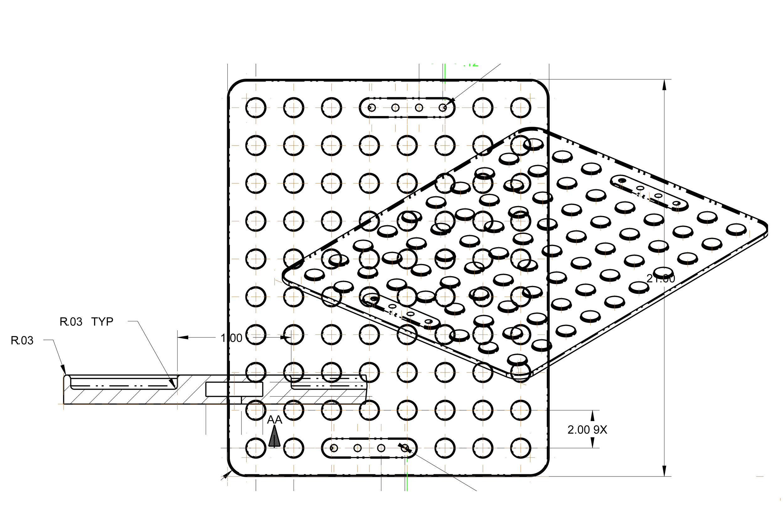 simulated CAD drawing of MagnaTek Mat