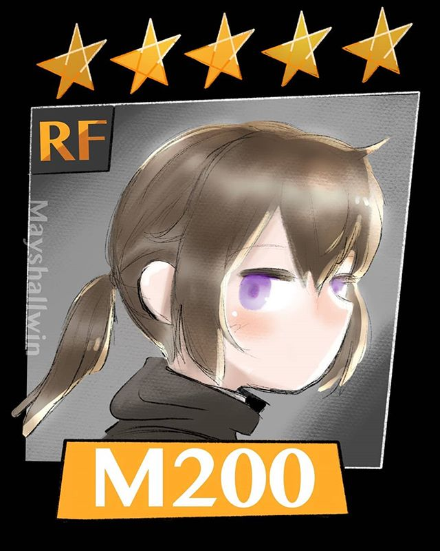 I made some #GirlsFrontline designs. If anyone is @dreamhack in Dallas Texas, I'll have these up as a sticker :) . . . #art #gfl #m200 #wa2000 #fanart