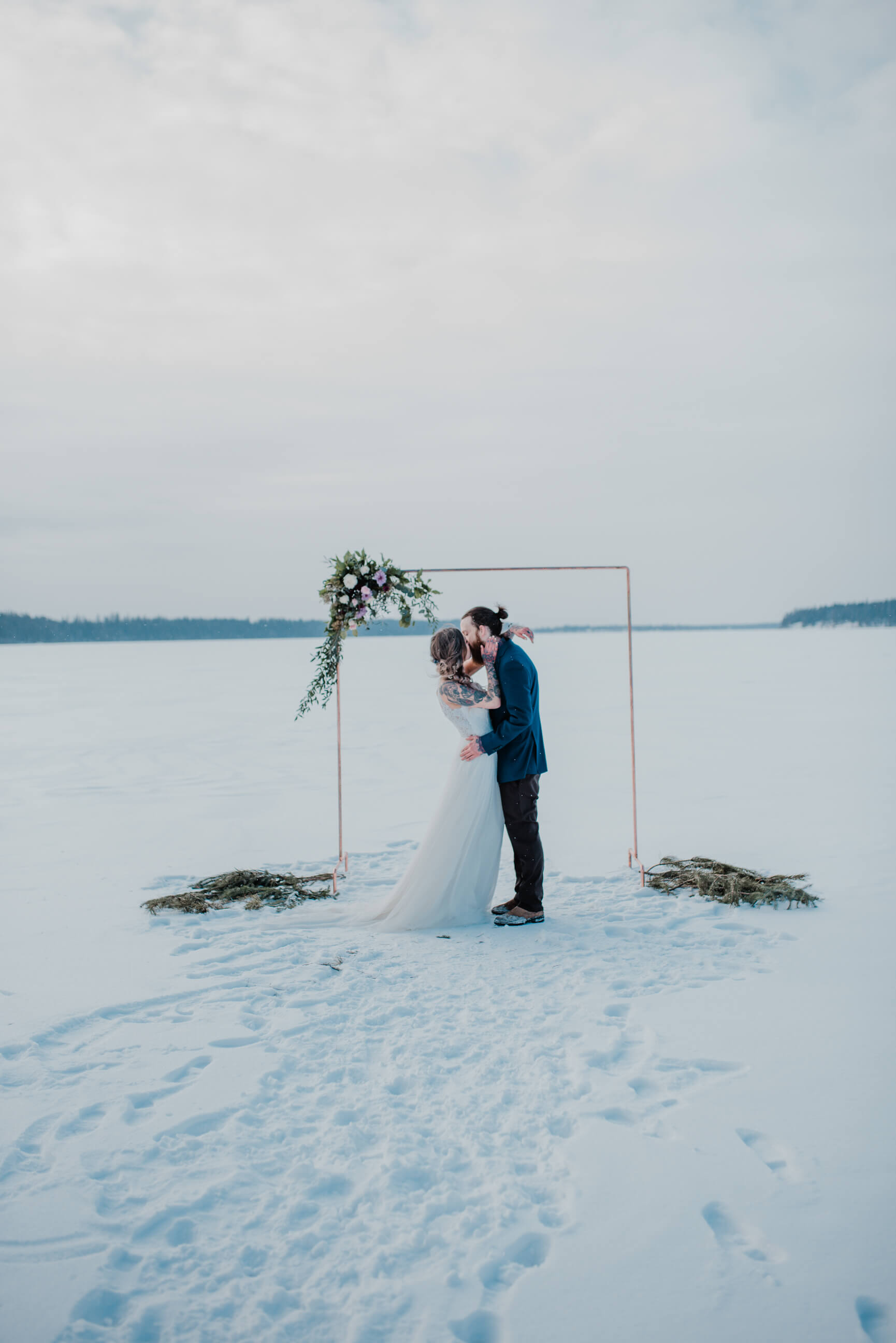 """""""All of the little details were custom designed and handmade for this particular day to match the couple's style by some of Northern B.C.'s best vendors,"""" Kayla says. -"""