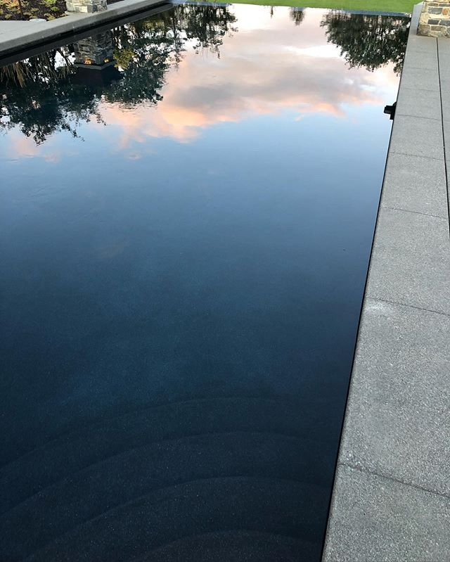 That reflection though, like glass . . . . . . . #swimmingpool #reflection #nature #thesky #backyard #swimming #pool #water #relax #pooldesign #photography #pnw