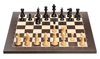 Wengé board with Ebony pieces