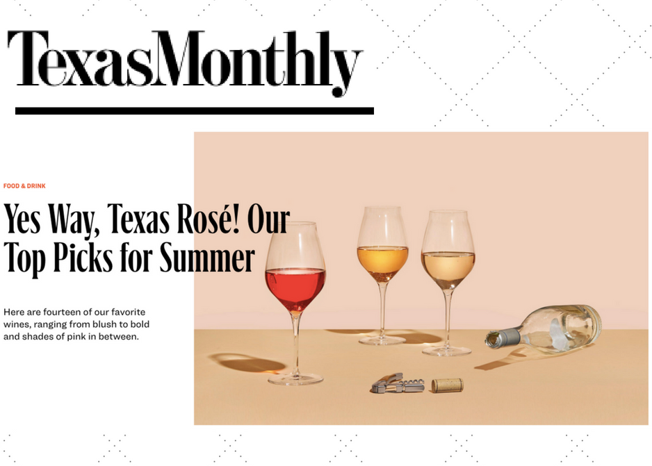 Texas Monthly Dandy Rosé Wine For the People Austin