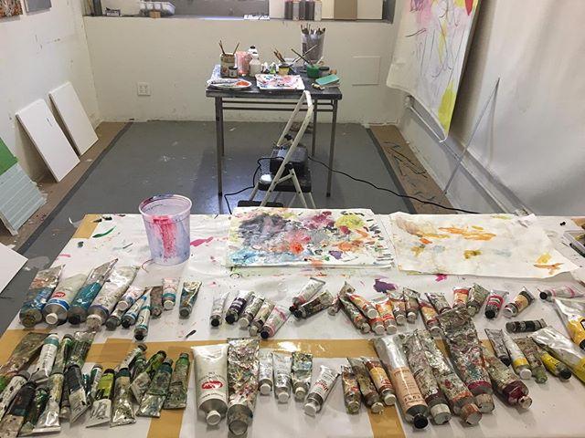 🔛 Resident artist Pedro França is taking over our studio. #wip @pedrofranca_pf 💥 . . . #pedrofrança #annexb #newyork #ny #nyc #brooklyn #bushwick #art #artistinresidence #artistresidency #artresidency #residencyprogram