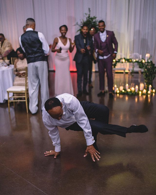 Ever seen a dad breakdance at a wedding? 🤔
