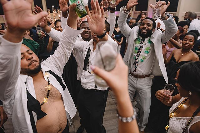 Wanna get wild at your wedding reception? Go right ahead! I'll be right there with you documenting all of it 😎