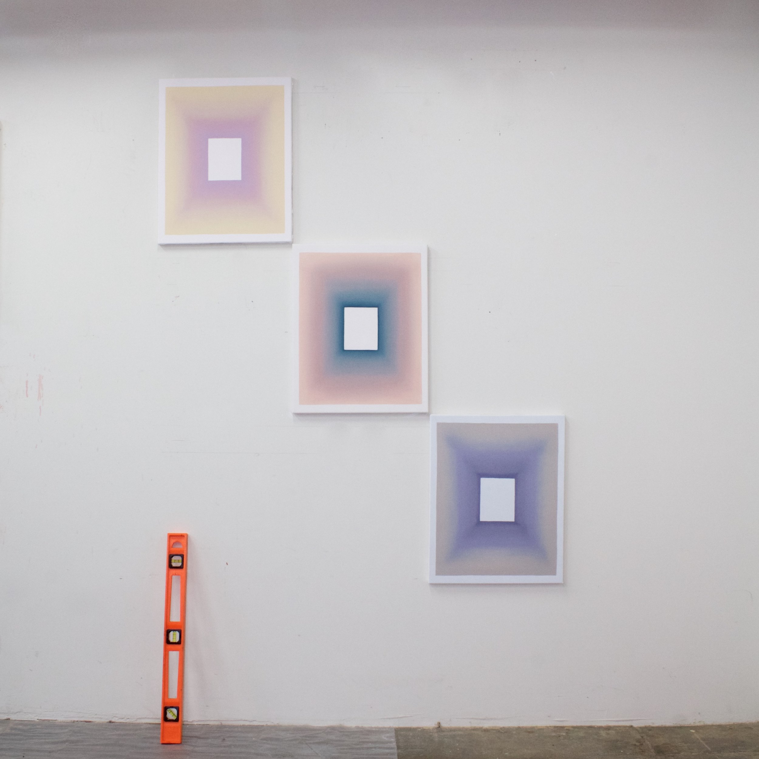 Three out of a nine part installation