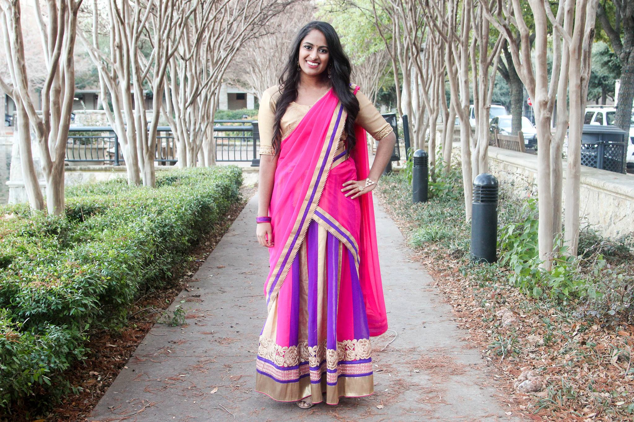 Half Saree Style