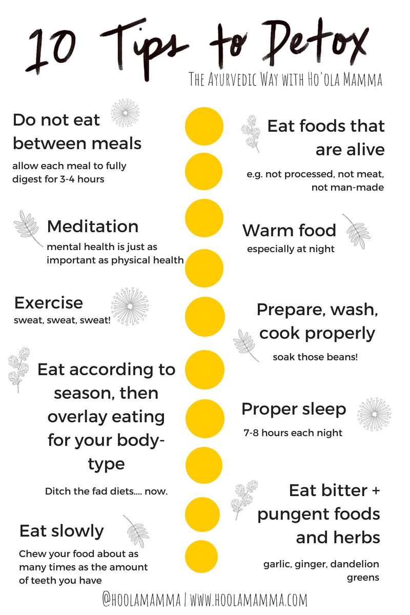 10 tips to detox