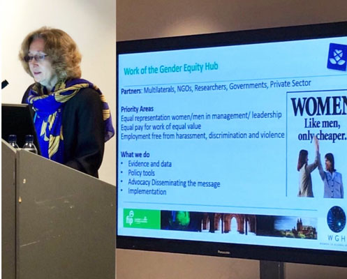 Ann Keeling speaking at the Women in Pharmacy Forum at the conference