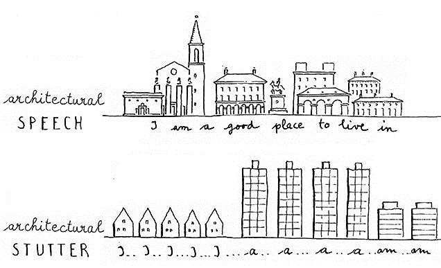 Leon Krier's Illustration of urban design
