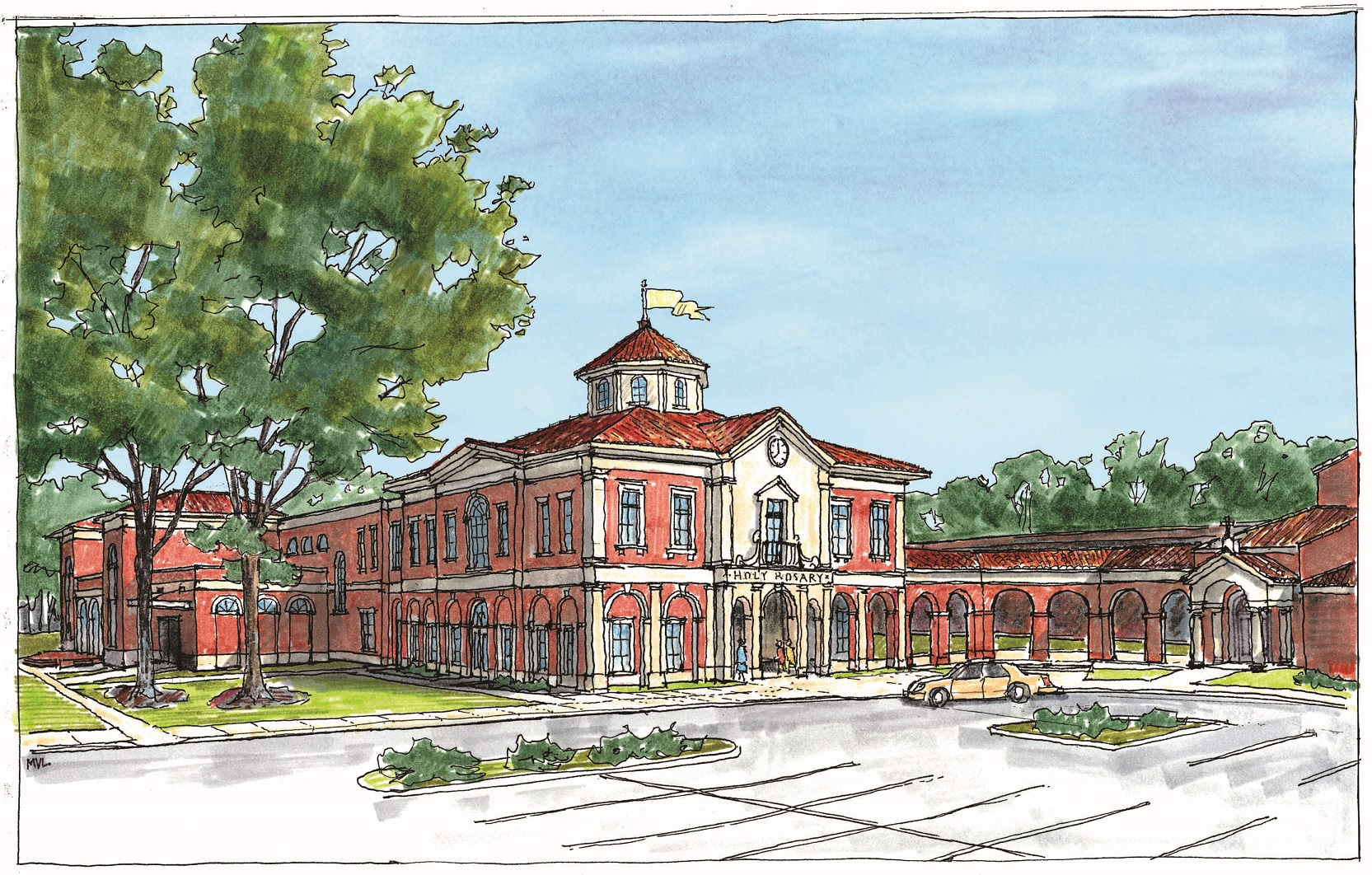 PERSPECTIVE RENDERING OF PROPOSED BUILDING