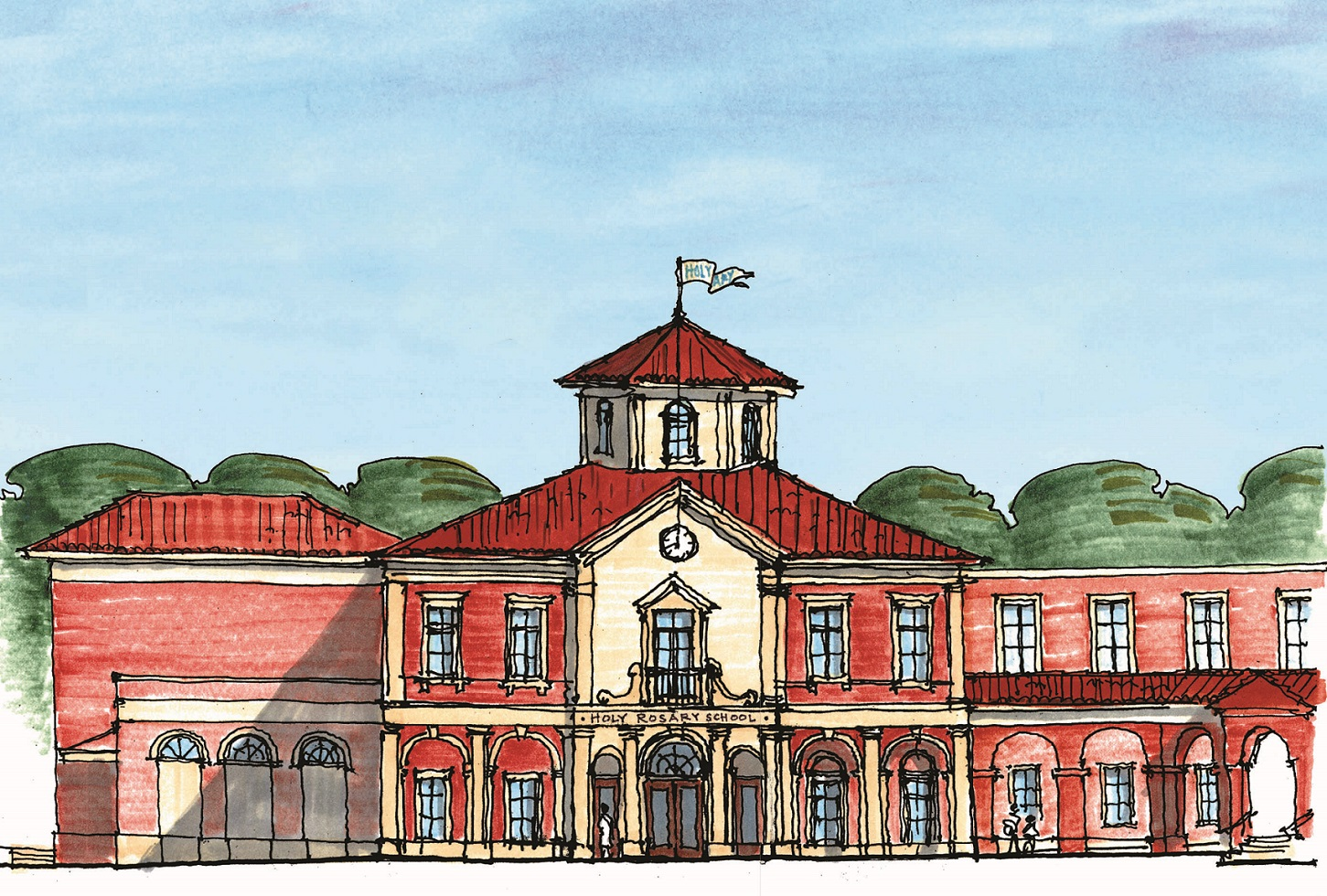 ELEVATION RENDERING OF PROPOSED BUILDING