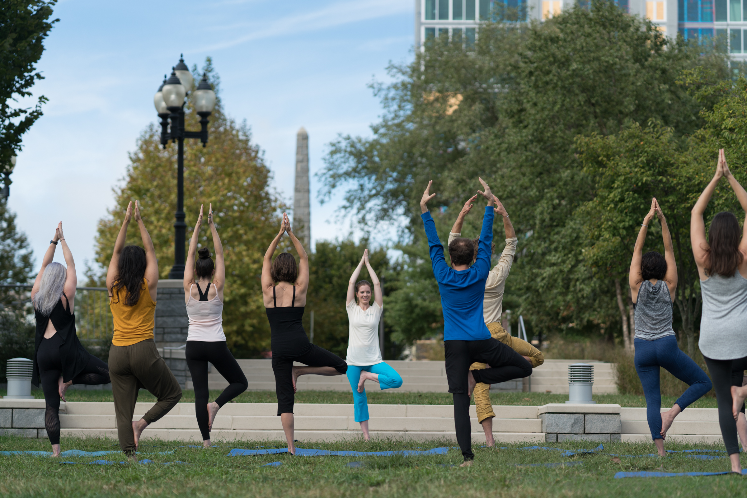 Downtown Walking Tour Asheville - Yoga in the Park