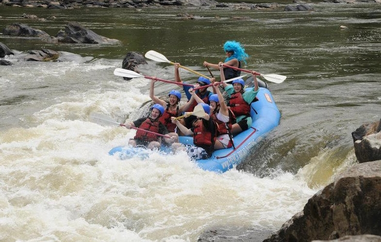 Whitewater Rafting Bachelorettes Asheville