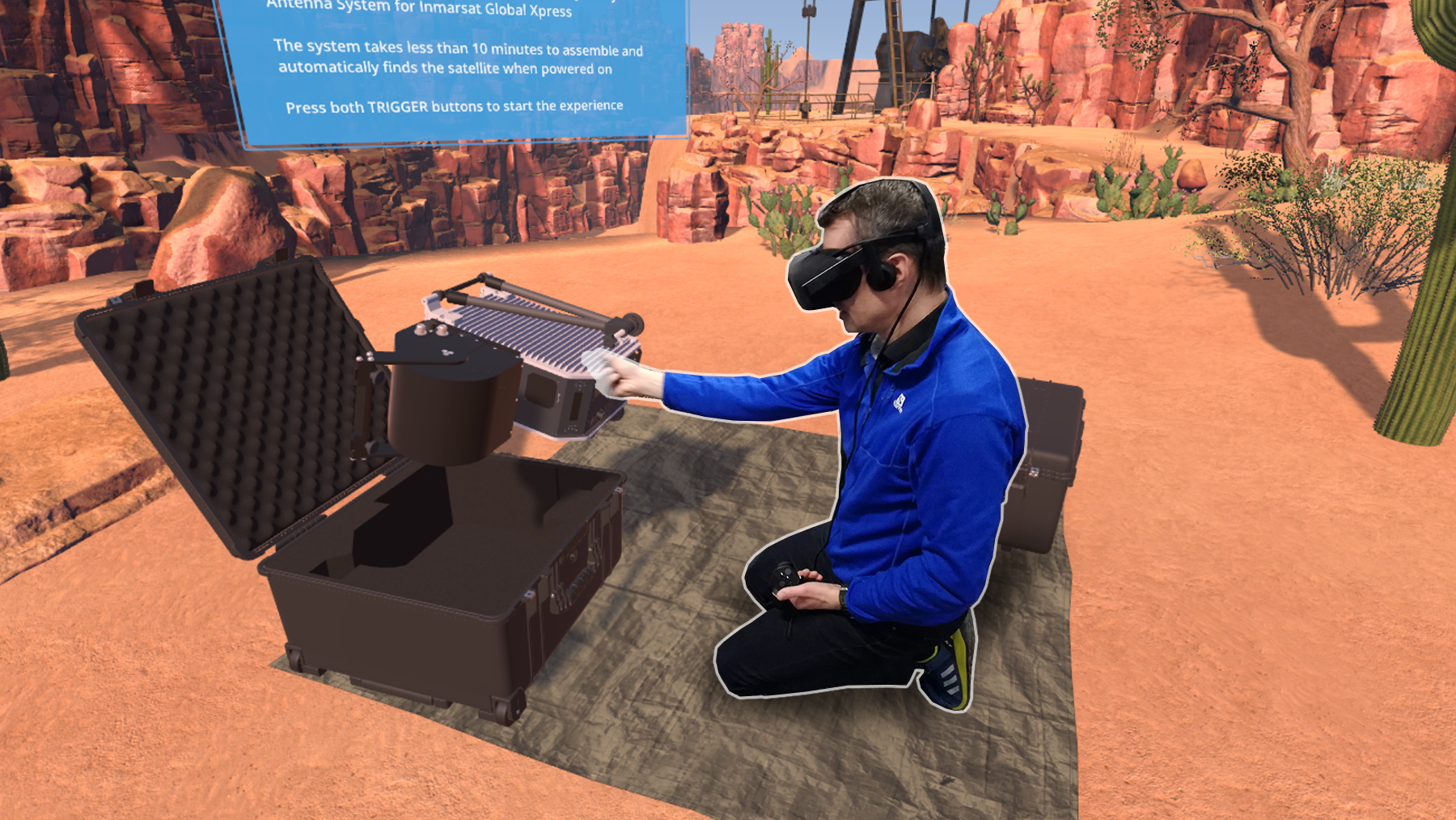 VR with the Worker Shown in the Virtual Environment In Which He Is Working.png