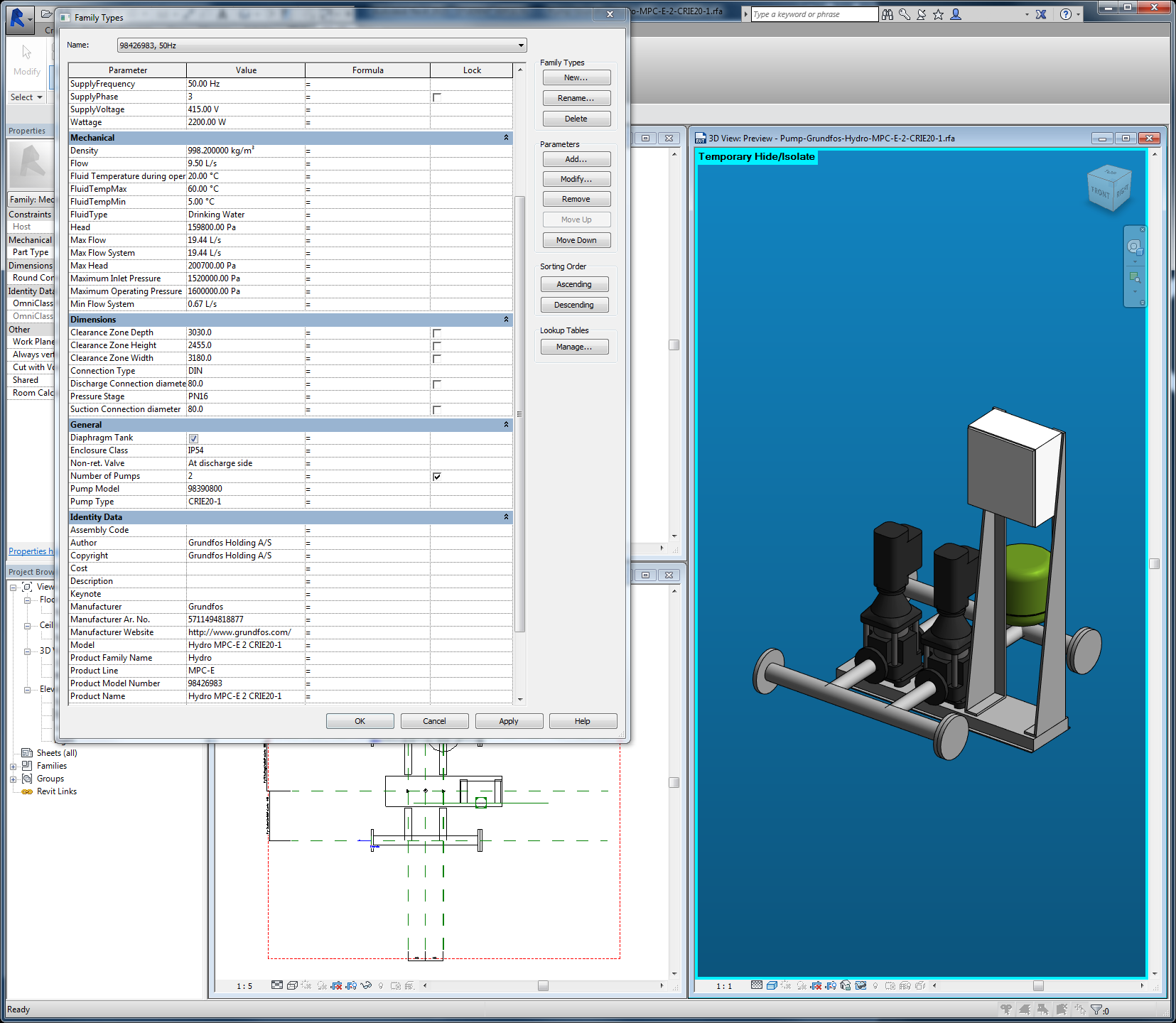 BIM File in Autodesk Revit Complete with 3D Model and Data.png