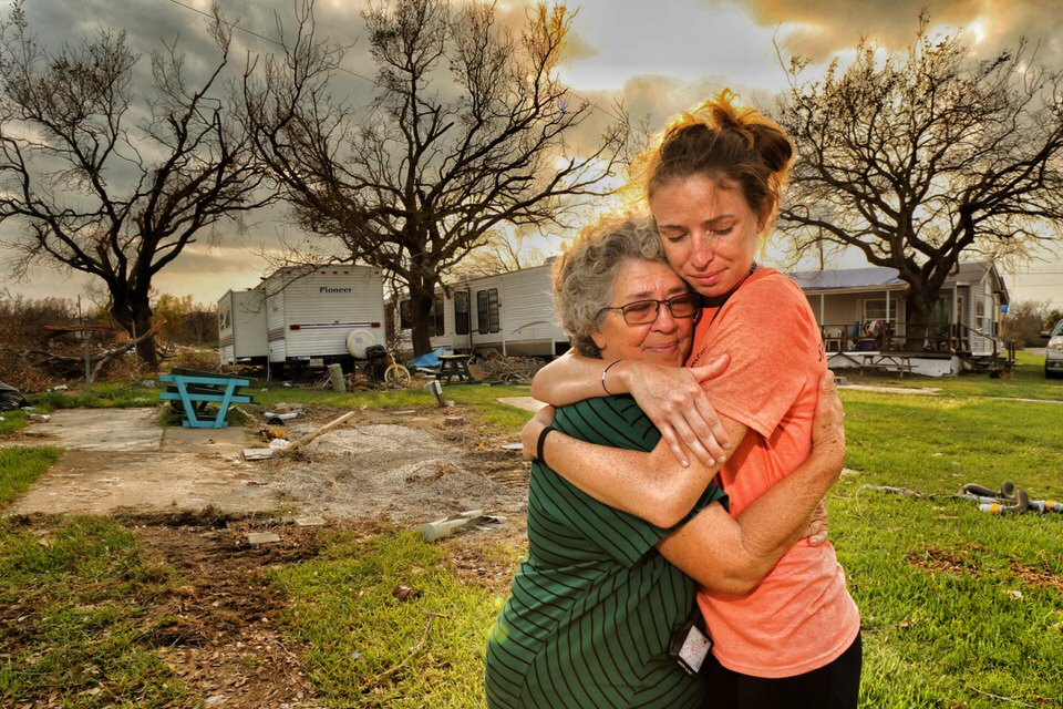 Kallie and her grandmother Linda. As they held each other tears of joy gently rolled down their cheeks. Their embrace tightened. And finally, both of them released the fearful thoughts and stress of what could have happened.