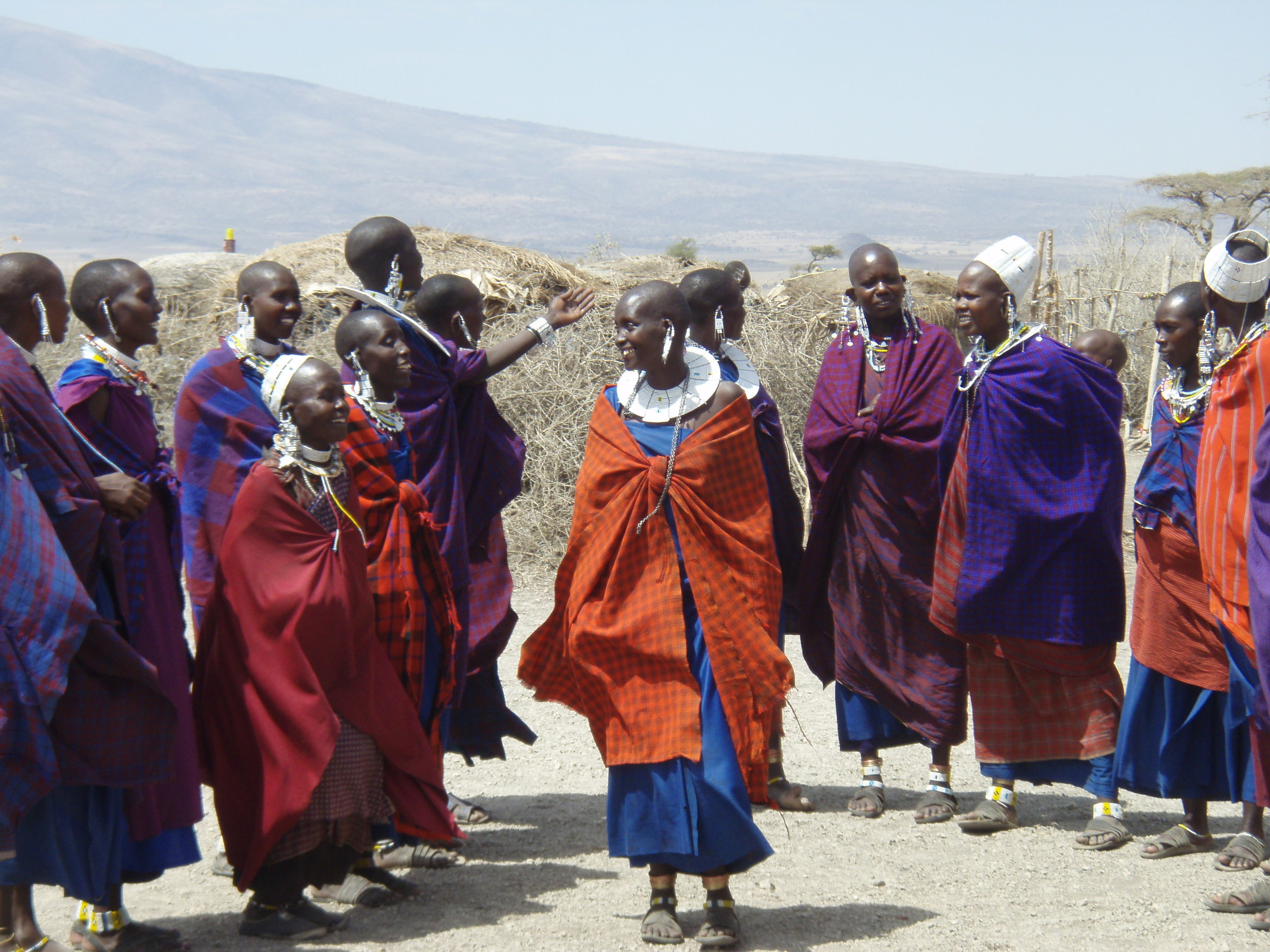 Maasai visitors village