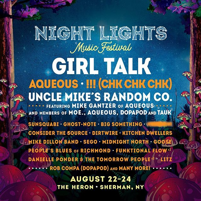 from attendees to performers, we could not be more excited to be taking part in this years festivities for Night Lights Music Festival 2019 at the Heron! catch us along with a plethora of amazing headliners and some of our local favorites (@tortoiseforest, @coldlazarusband, @witty_tarbox, @space_junk_buffalo, @musicypher and more)! . . . . . #welcomehome #ponder #buffalove #nightlights #musicfest #festival #summer #band #gig #beer