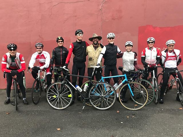 Last day at the transitioning 2017 shop - I was exhausted from two plus weeks of finishing projects and moving everything out. Loads of folks helped out in so many ways - and the Sunday ride was there - that very last Sunday when we took this pic. Such great people and riders - thanks gang ! #broaklandbikes #broakland #mvsundayriders