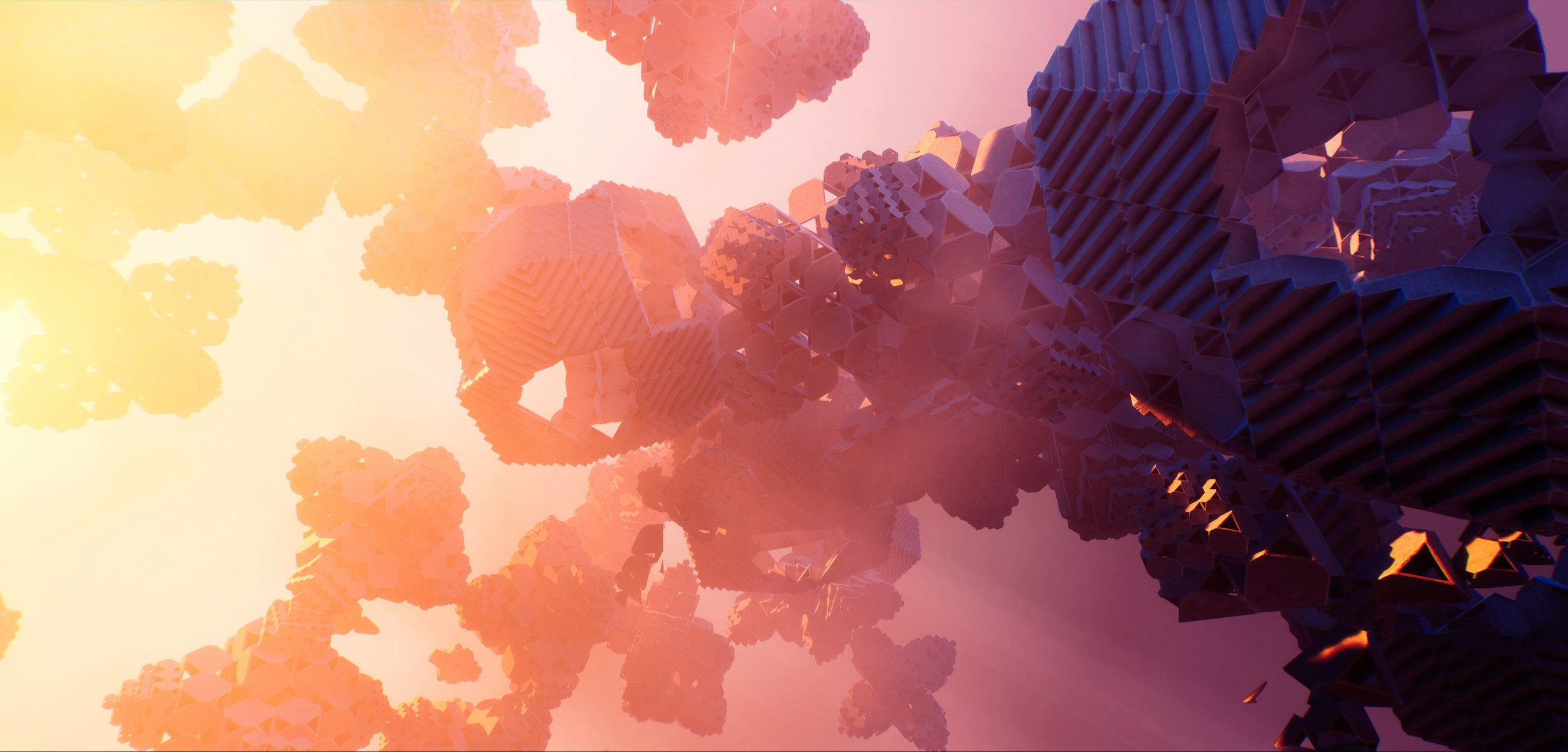 an image from 'emergence', a 5 minute short ambient loop, designed for the Epic Games Unreal Engine User Group SIGGRAPH 2019