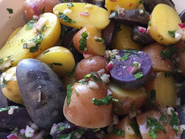 Red White and Blue Potato Salad, Cooking Light