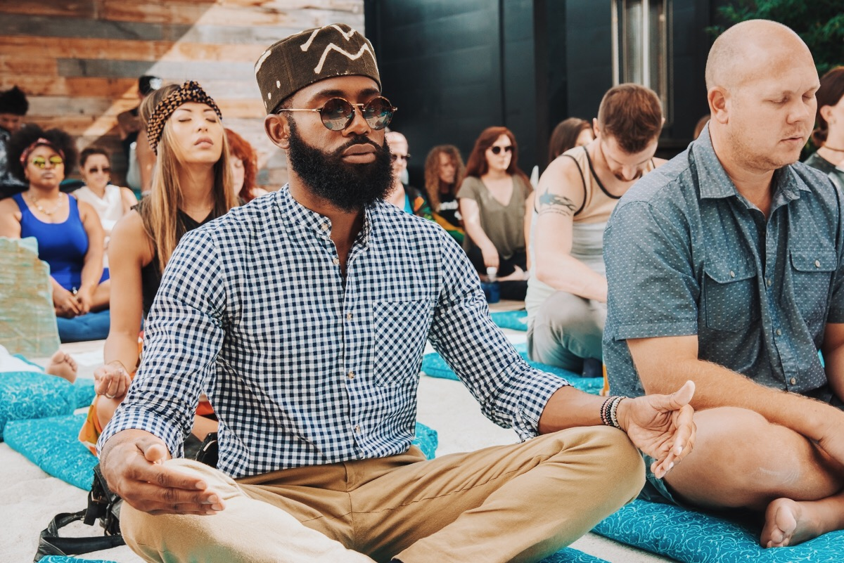 meditation CBD rose collective
