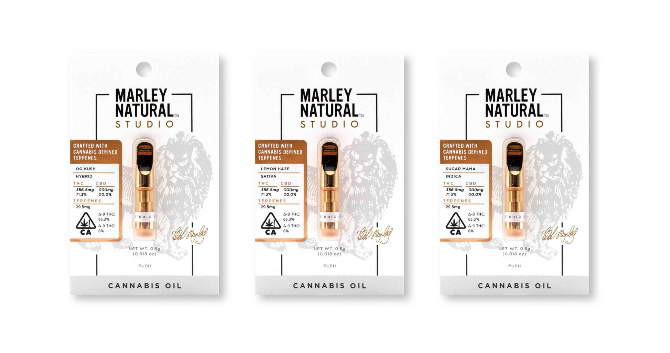 Studio Vape cartridges - In collaboration with exceptional extractors, our vape oils are developed exclusively for Marley Natural™ STUDIO: rooted in tried-and-true classic strains, with reintroduced 100% strain-derived cannabis terpenes, and most uniquely, a potent boost of converted Delta-8-THC.Learn more about Delta-8-THC HERE.0.5g