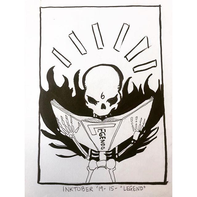 "INKTOBER Day 15 - ""LEGEND"" the six fingered man reads a story about himself, a tale of legend. 🖤#inktober2019 . . . #PIGinktober #ink #inkdrawing #drawing #sketch #darkart #blackandwhiteart #sketchbook #crowquill #micron #skeleton #phillyart #phillyillustration #october #drawdaily #dailyart #artstagram #inktober #blackwork #brushpen #micron #illo @inktober @jakeparker"