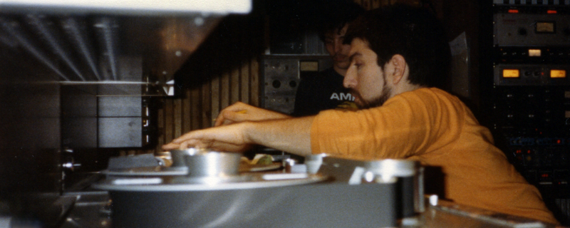 Dave Ogrin editing the master of Taste So Good at Quad Studios NYC 1985
