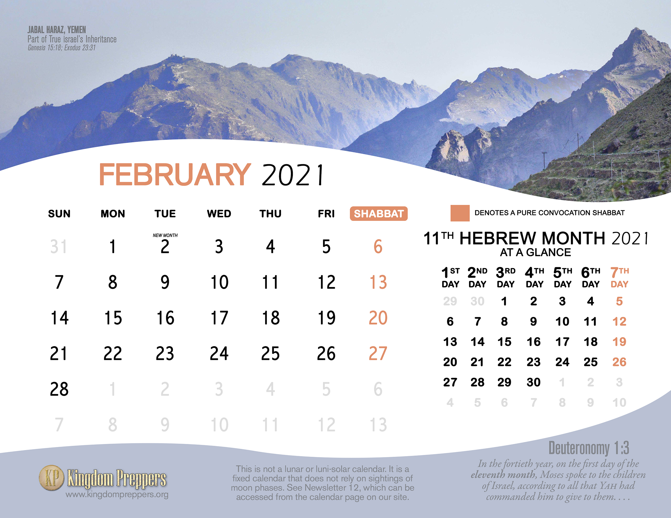 Hebrew Israelite Calendar (2020-2021) — Kingdom Preppers