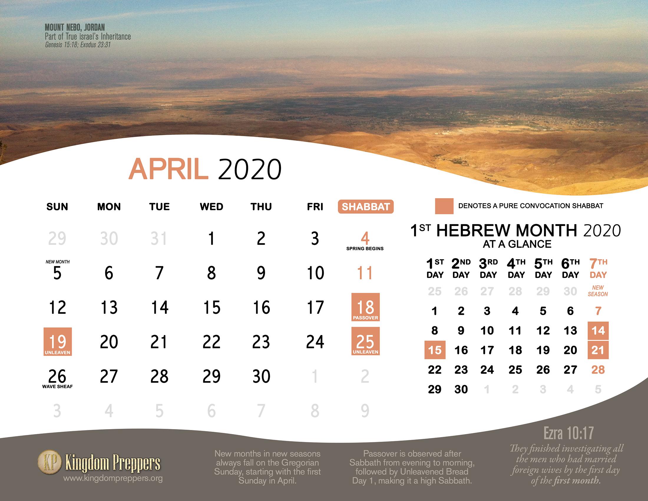 Passover 2021 Calendar Hebrew Israelite Calendar (2020 2021) — Kingdom Preppers