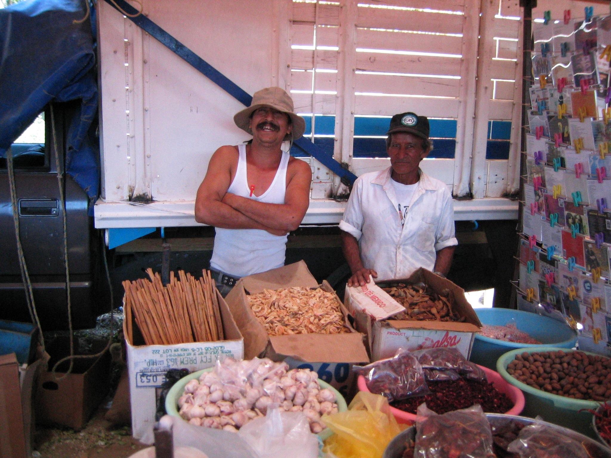 cinnamon sticks, dried shrimp, garlic, raisins…