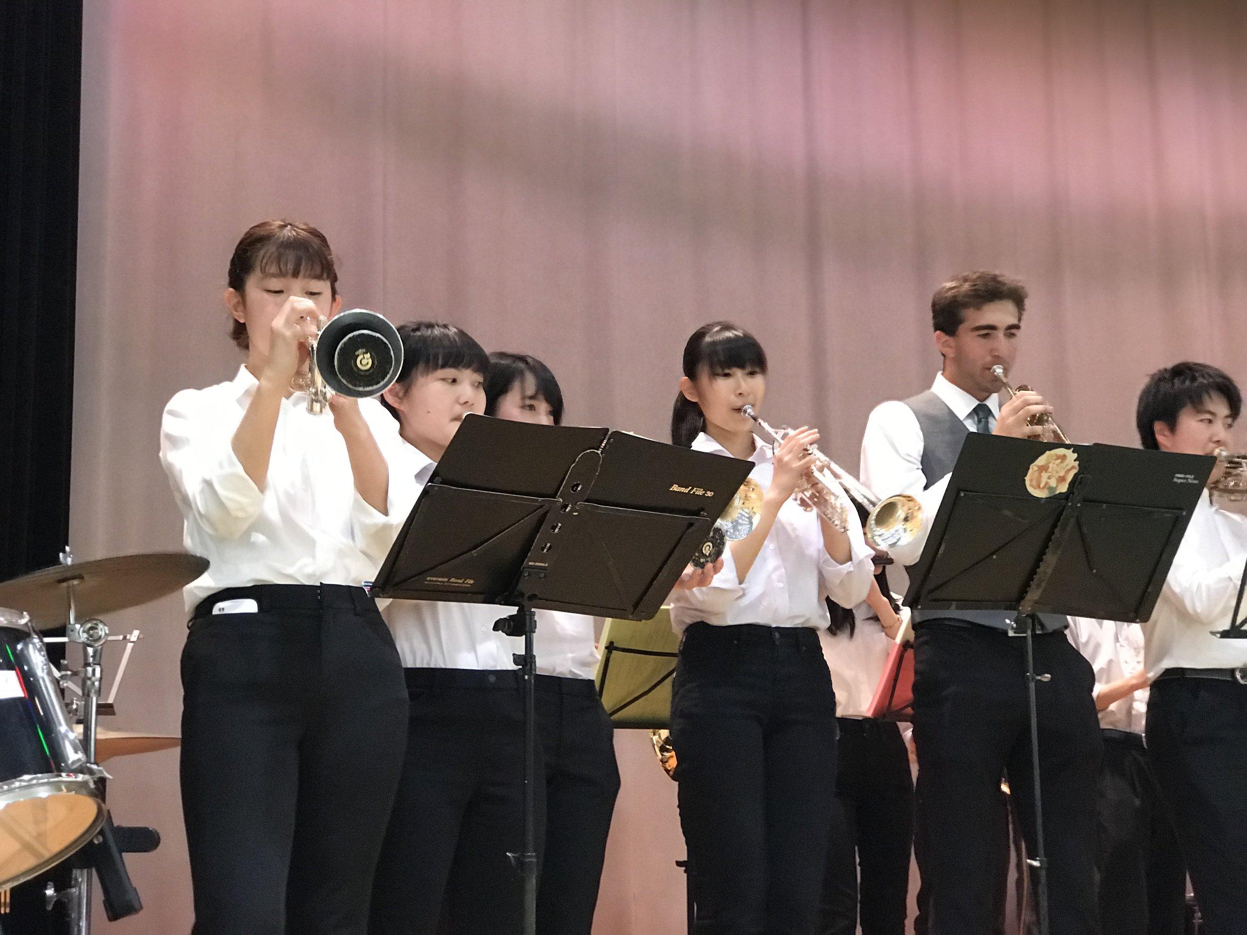 Playing with the Kanazawa Jazz Band!