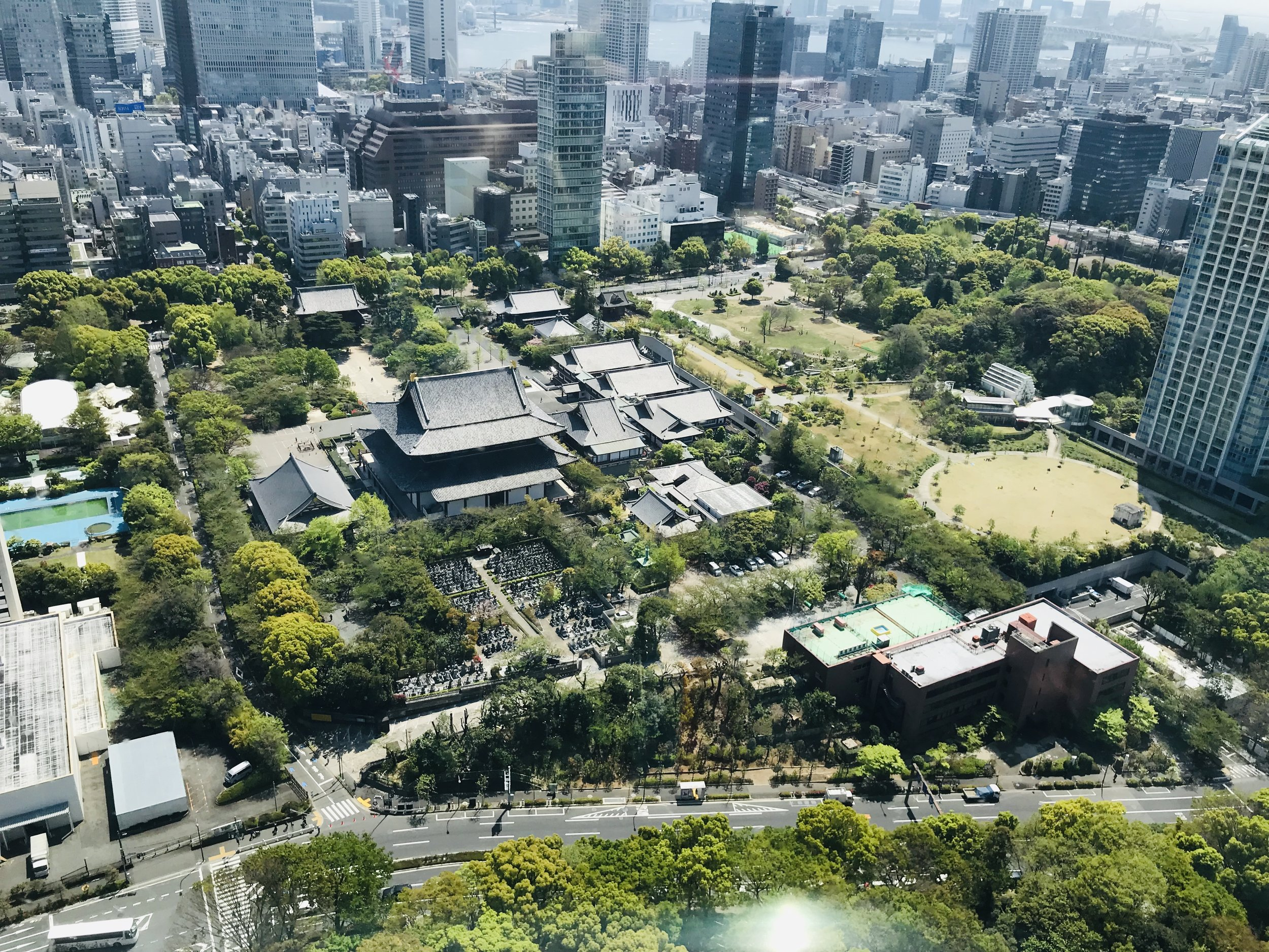 The view from Tokyo Tower