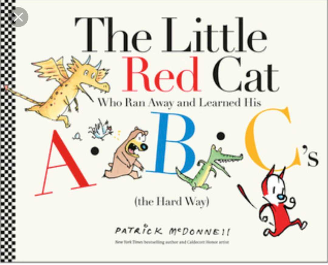 The Little Red Cat - Their are no actual words in this book, only the alphabet! It is SO cute and funny as a run away cat encounters each letter of the alphabet. This one makes my three-year-old laugh out loud!