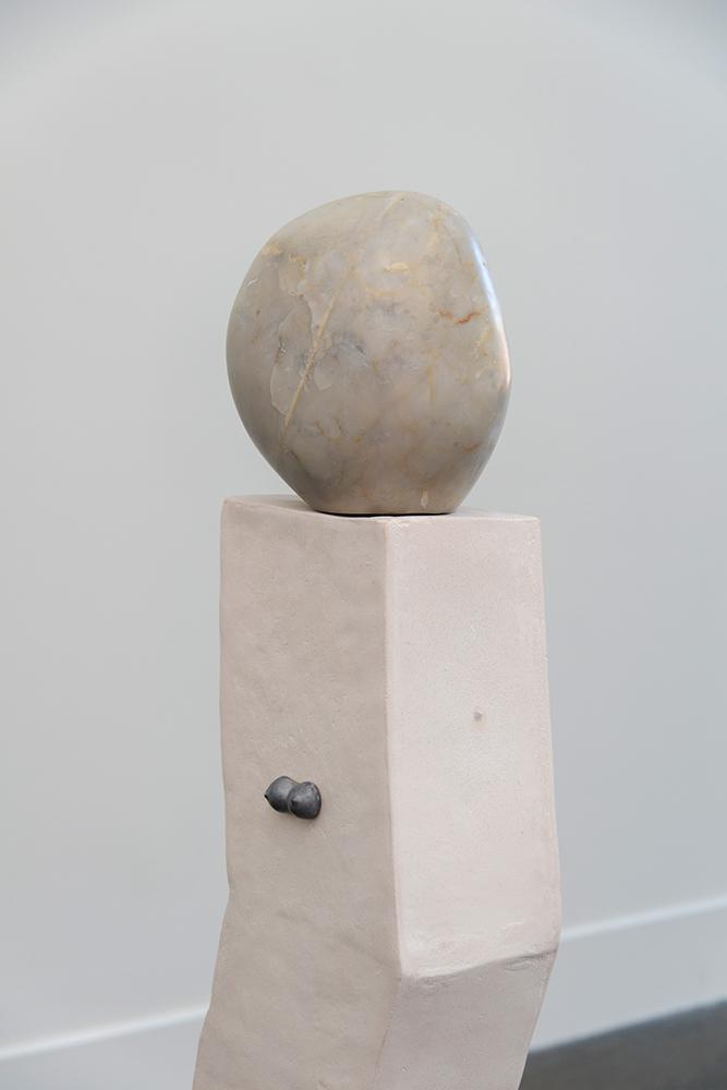 Sanné Mestrom, Dear Claire, Dear Clive , 2015, Ceramic (ft. Clive Murray White's Carrara marble and Claire Lambe's cast lead), 105 x 100 x 100cm