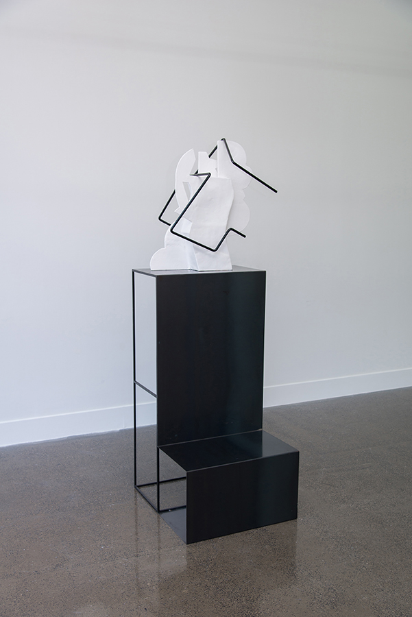 Sanné Mestrom, Dear Scott,  2015, Ceramic (ft. Scott Jackson's found photographs), 187 x 60 x 20cm