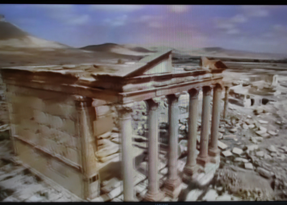 Marian Crawford,  Palmyra, TV Broadcast, 30 March 2016 , 2016, Digital Photographic Image