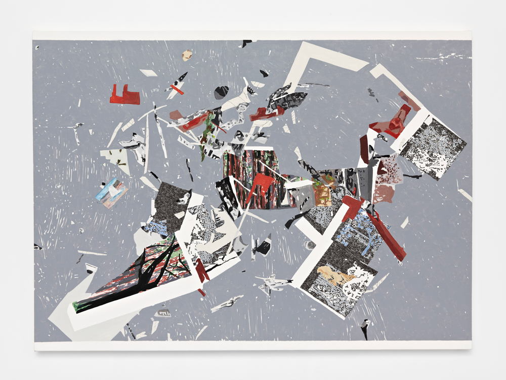 Beth Harland, Cut Scatter 1 , oil on canvas, 110x81cm