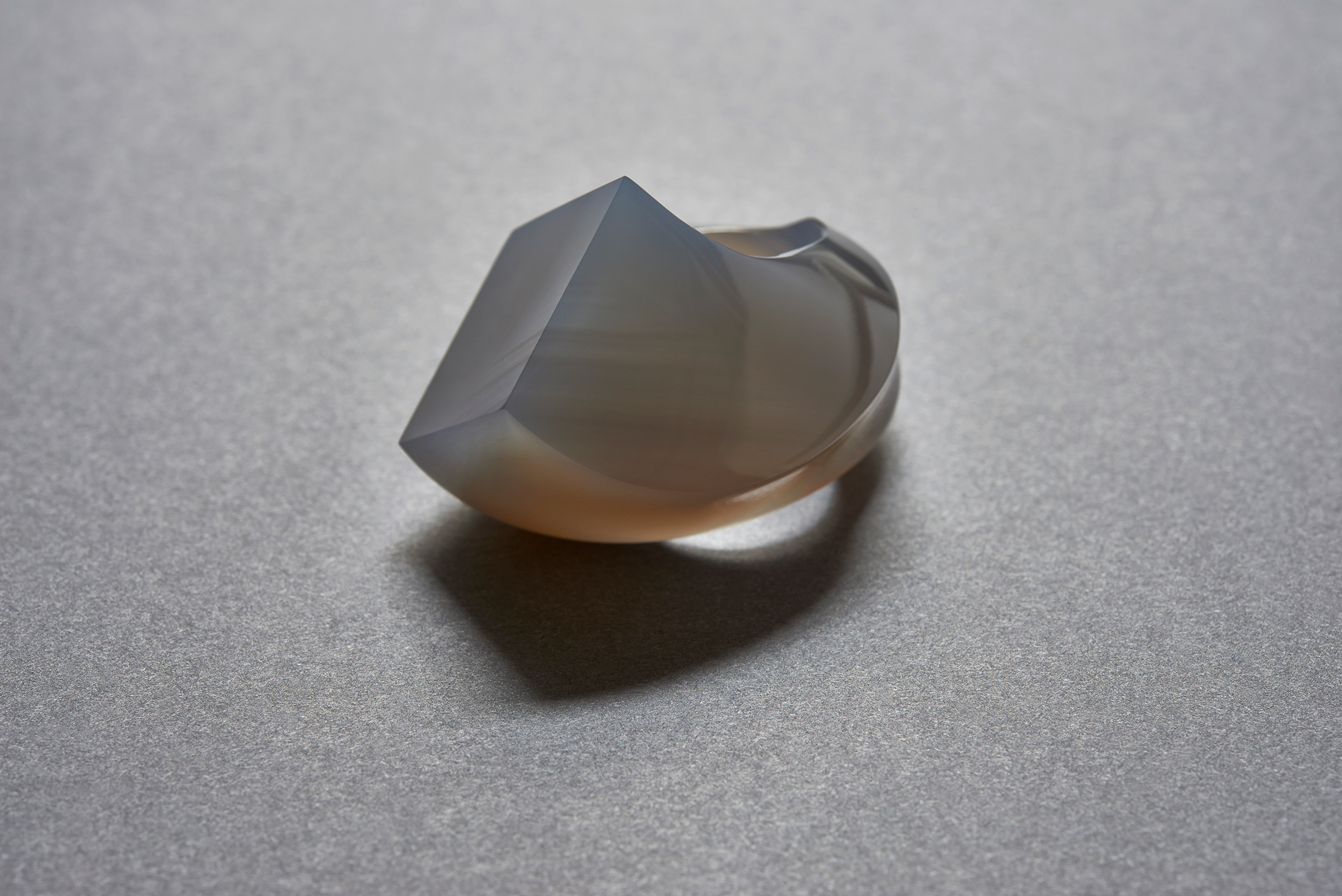 Yutaka Minegishi,  Ring , 2016, agate, photograph courtesy of the artist