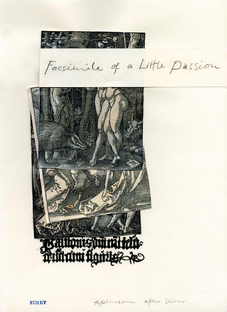 Ruth Johnstone,  Facsimile of a Little Passion  , woodcut, facsimile, letterpress, 29 x 21 cm, 2012