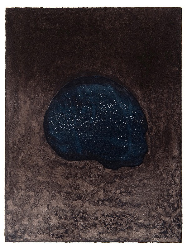 Andrew Sinclair,  Night pool  , two-colour etching, 38 x 28 cm, 2011