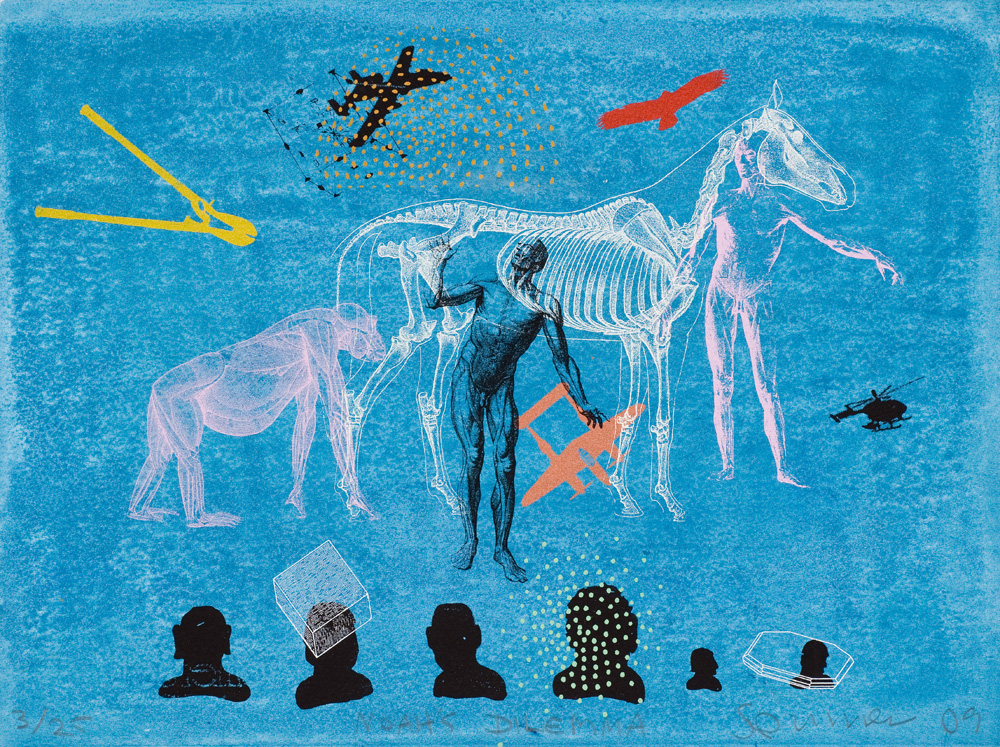 Stephen Spurrier,  Noah's Dilemma  , Screen print, 28 x 38 cm, 2009