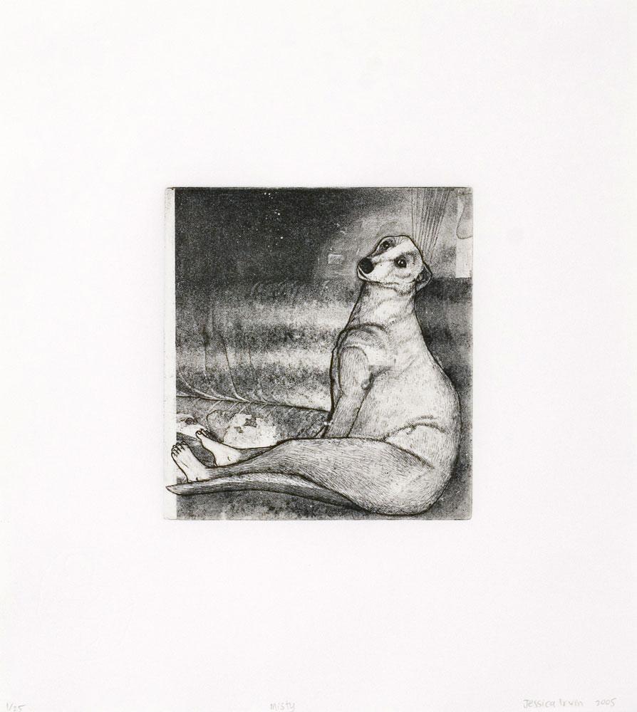 Jessica Irvin,  Misty  , Etching and aquatint, 31.5 x 28 cm, 2005