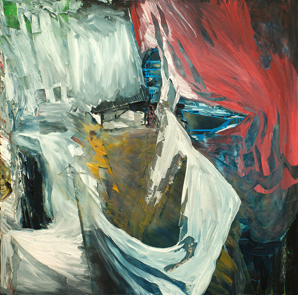 Harry Hay,  Castaways  (detail), 2013, Oil on canvas