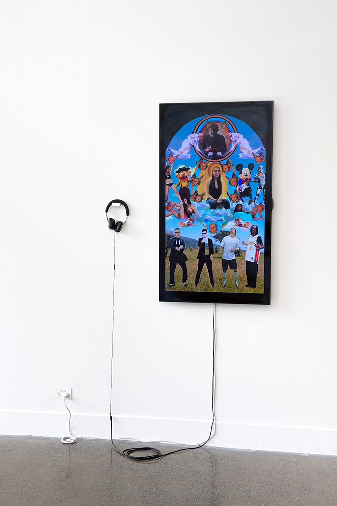 Xanthe Dobbie,  The Assumption of Virginity , 2014, Video Installation, based on Pietro Perugino's  The Assumption of Virginity and Four Saints