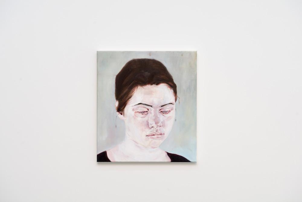 Bernadette O'Sullivan,  Woman looking down , 2013, Oil on canvas