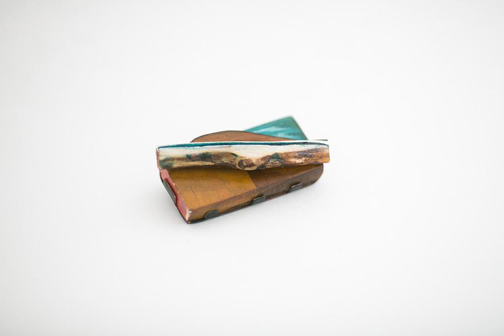 Sarah Jones Stubbs,  Fluxus 1 , 2013, Silver, driftwood, ceder and paint