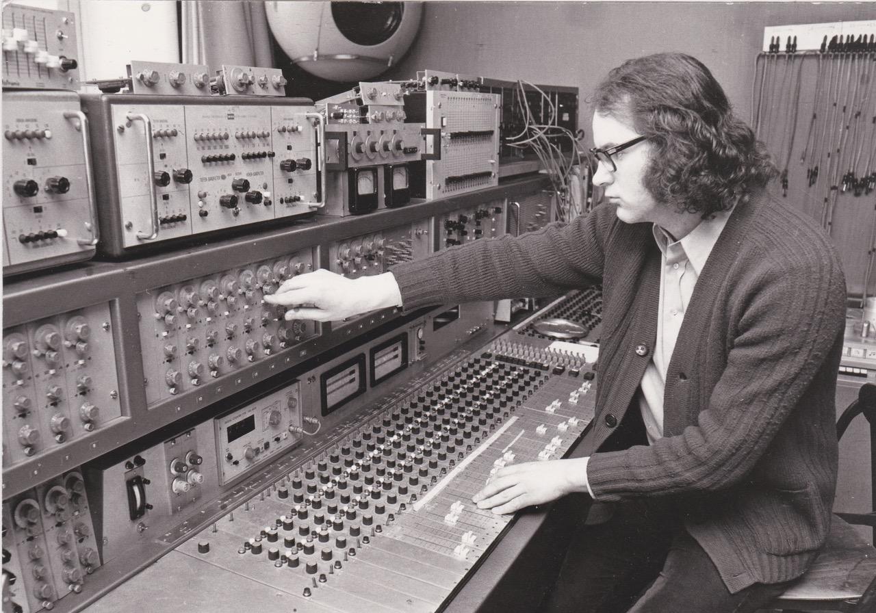 Michel Chion at studio 54 of the  Groupe de Recherches Musicales 1975